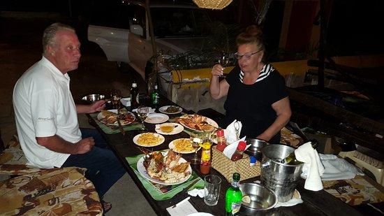 Safari Inn Bar & Restaurant: My friends and a great meal