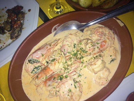 Dom Mario: Prato com camarão