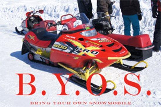 Oneonta, Estado de Nueva York: Bring Your Own Snowmobile - B.Y.O.S. and enjoy the surrounding area.