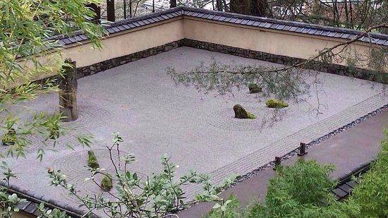 Portland Japanese Garden: 枯山水。Karesansui(Japanese Rock Garden).