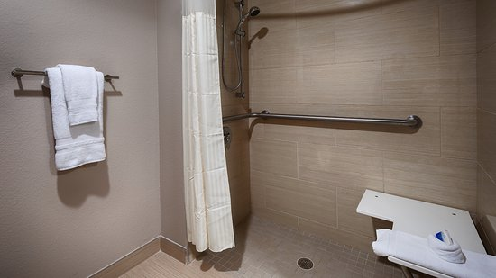 Elmendorf, TX: Accessible, Roll-In-Shower