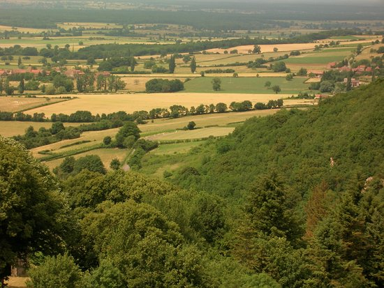 Martailly-les-Brancion, Frankrike: View of Grosne valley