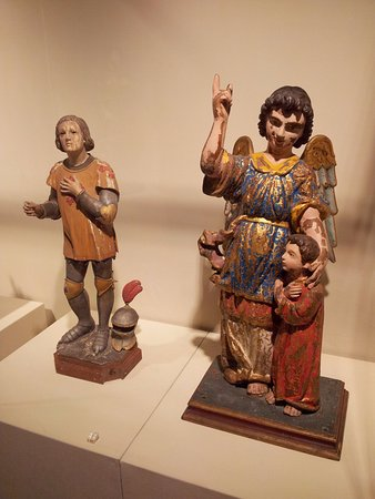 St. Joseph Seminary and Church: Wooden carving of icons and saints (5)