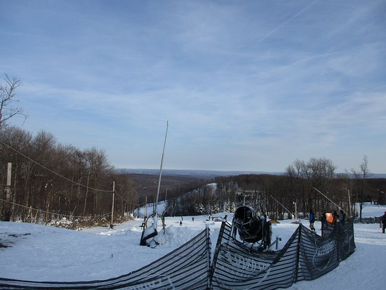 Champion, PA: The view from the top near Santa's Beard Terrain park
