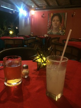 Mariscos La Pesca : lovely patio with a great beer selection and my new favorite Tequilla drink called Paloma...