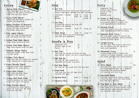 Coolum Beach, Australia: Take-away menu