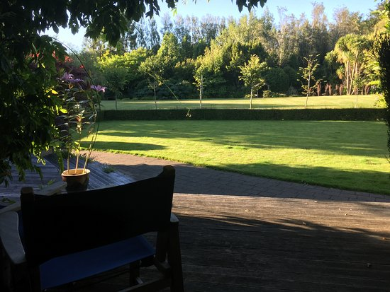Beersheba Boutique Accommodation: View from our private deck at Beersheba, Invercargill, NZ