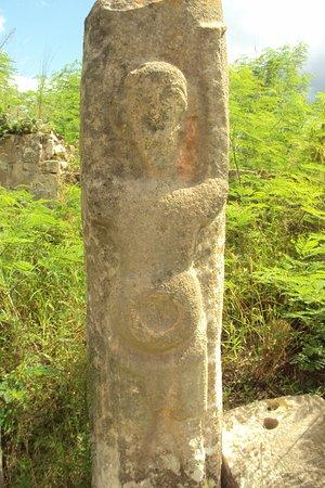 Maxcanu, เม็กซิโก: una de las piedras, parece un alien!