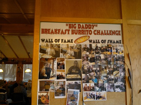 "Aunt Alice's Kitchen : Wall of Fame for the ""Big Daddy"" Breakfast Burrito Challenge!"
