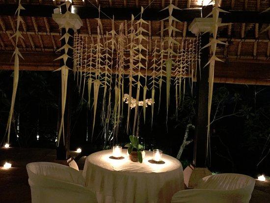 COMO Shambhala Estate: Private dinner