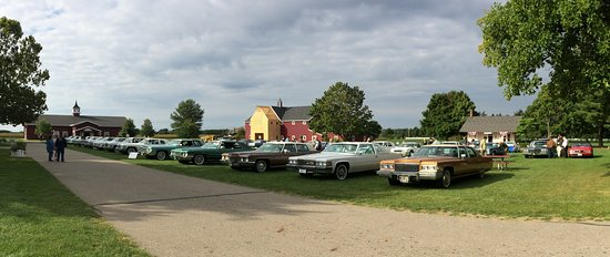 Hickory Corners, MI: View of a car show during a special event weekend