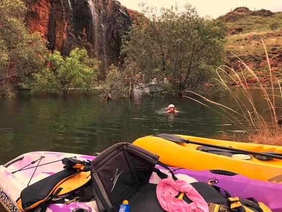 Homestead falls, Lake Argyle, Kayaks from Lake Argyle Cruises