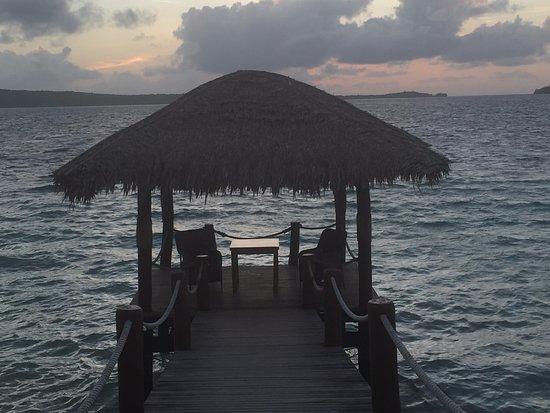 The Havannah, Vanuatu: private dining option