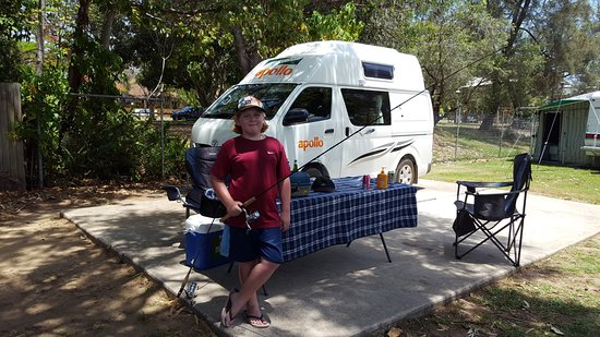 Noosa River Holiday Park : the Apollo Motohome we stayed in