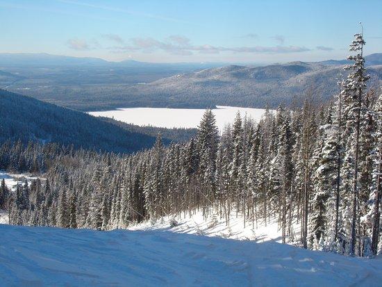 Prince George, Kanada: View of beautiful Purden Lake from Lakeview Ski Run