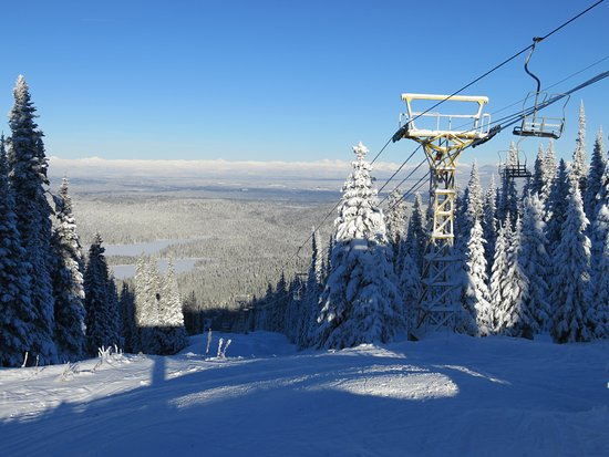 Prince George, Canadá: Looking east, Purden lake below, from top of Yellow Chairlift