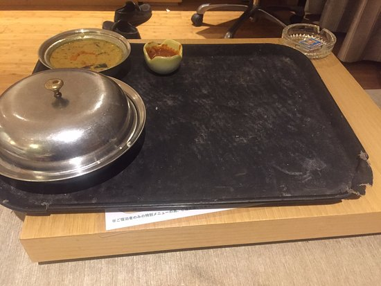 The Chancery: Inroom dining service tray