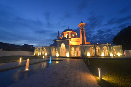 Pekan, Malaysia: The historical mosque museum at night