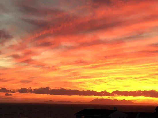 Pringle Bay, South Africa: Stunning sunsets and views of  Cape Point from Belle Mer.