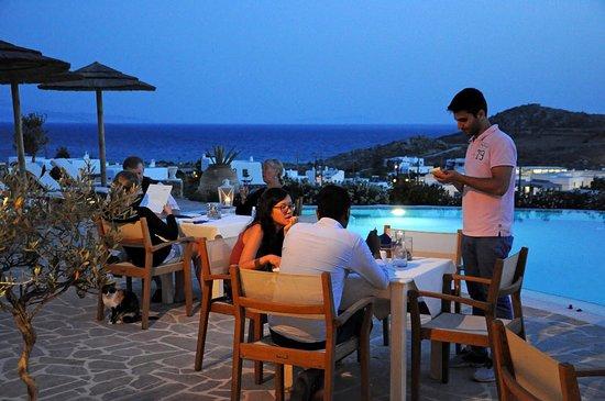 Агиос-Прокопиос, Греция: Stelida Restaurant has a great sea view towards Paros and Ios