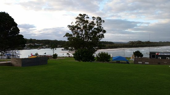 View from the rear dining area Huskisson Hotel