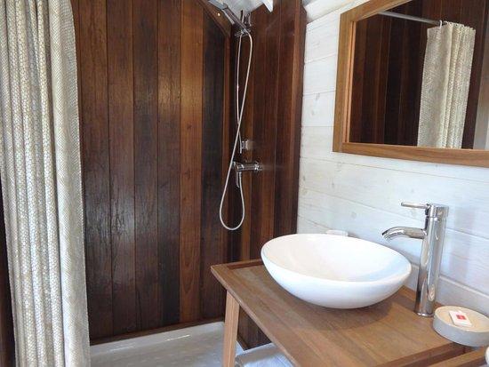 Saint-Martin-des-Entrees, França: SALLE DE BAIN DOUCHE ITALIENNE, LAVABO  ET WC