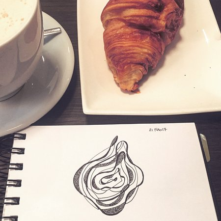 Golden Bean - The Coffee Experience : A little sketching over chai