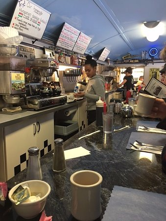 The Little Depot Diner : this picture was taken from the last seat at the counter.