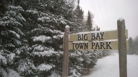 La Pointe, WI: Wintertime sign
