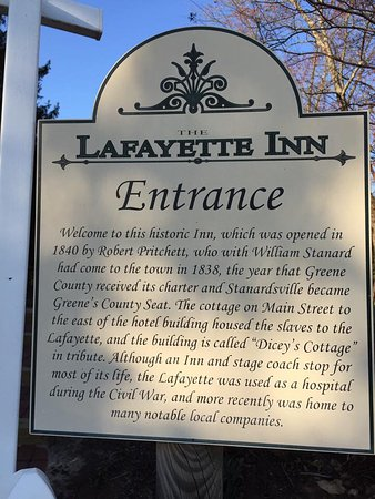 Stanardsville, VA: History of the inn.