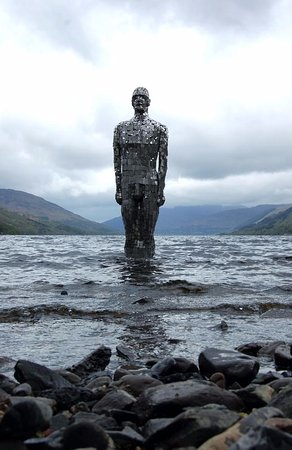 "St. Fillans, UK: ""Still"", known locally as 'The Mirror Man'"