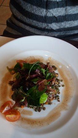 Briare, France: Salade de lentilles magret et noisettes