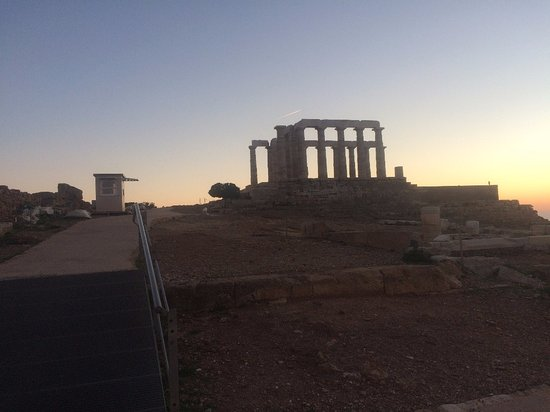 Sounio, Grèce : View immediately after sun set