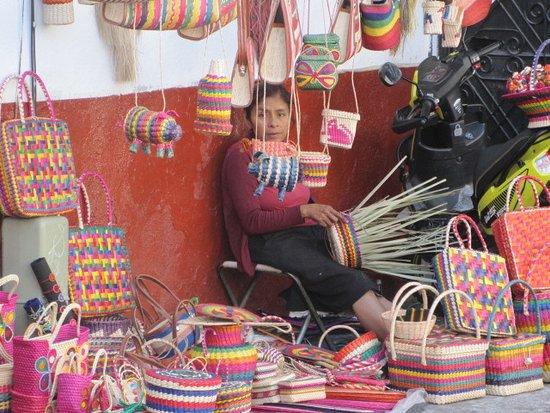 Hotel Posada Santa Anita: Zocolo basket weaver