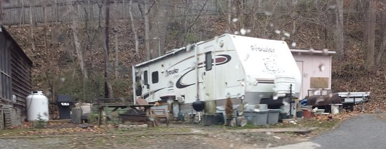 French Broad River Campground: Junk all around