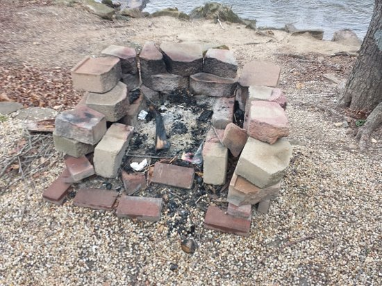 French Broad River Campground: Fire Pit as I arrived