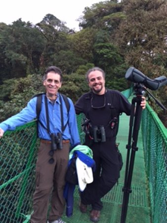 Forest Alive: My husband and Andy in the Monteverde Cloud Forest.