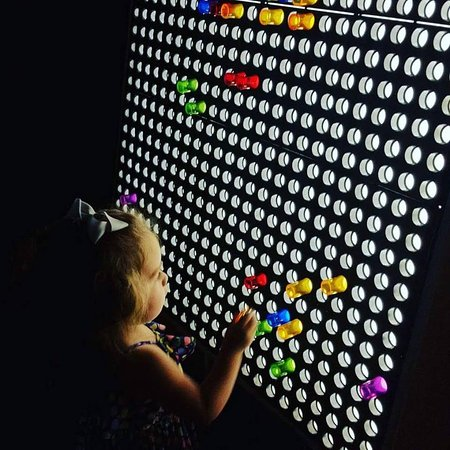 San Luis Obispo Children's Museum: Come see our giant light board wall!
