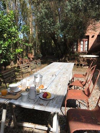 Casa Zinc: Breakfast outside in the inner courtyard