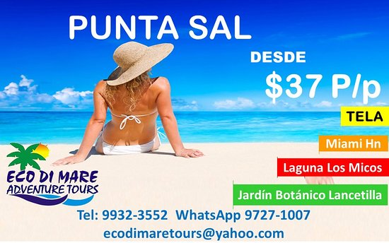Eco Di Mare Tours: Punta Sal Tela Honduras lleno de actividades paseo en bote, caminata, snorkeling, almuerzos