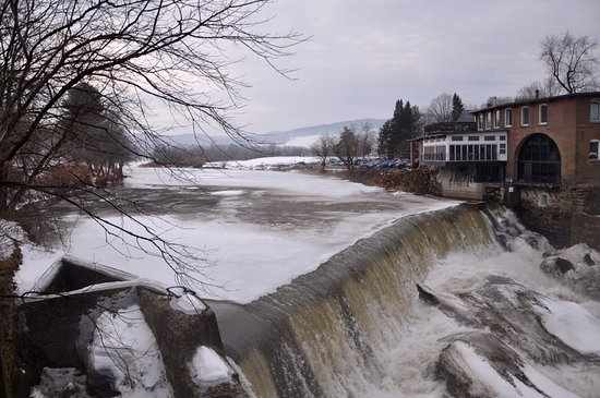 The View From Quechee Bridge - The Dam And Simon Pearce Mill