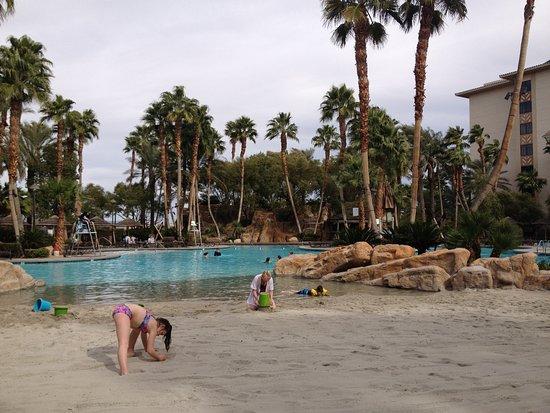 Tahiti Village Sandy Beach At Pool