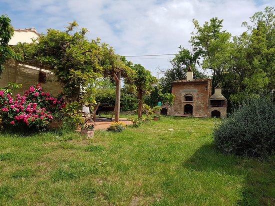 Peccioli, إيطاليا: Pergola e forno con  barbeque