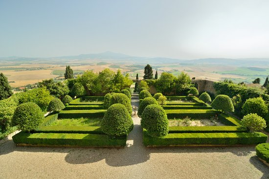Pienza, Italy: View from loggia