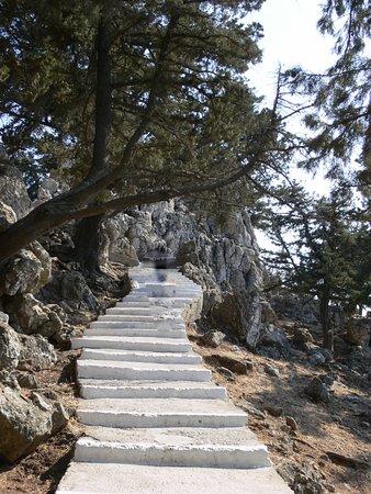 Kolimbia, Grecia: la scalinata