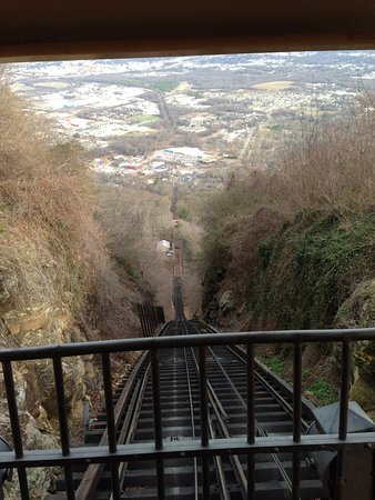 View from the top of the Lookout Mountain Incline Railway
