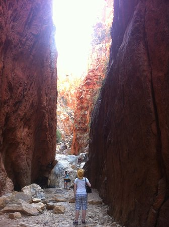 Territorio del Norte, Australia: Same Stanley Chasm exactly mid day --sun shine direct overhead lights it up