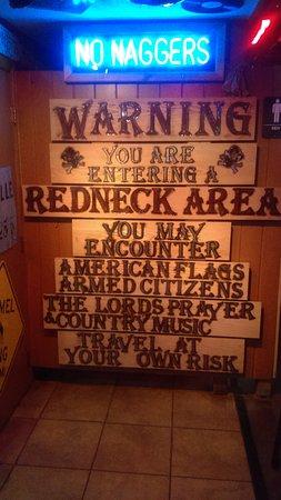 Sauk Rapids, MN: Warning Sign as You Enter.