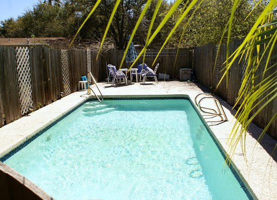 The pool is available for guests of Anthony's by the Sea. It's ready for Spring Break, are you?