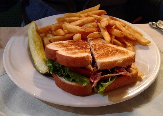 Gallipolis, OH: Sandwich and fries - Feb 2017